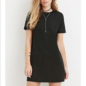 Cute Black T-shirt Dress Casual Bathing Suit Cover
